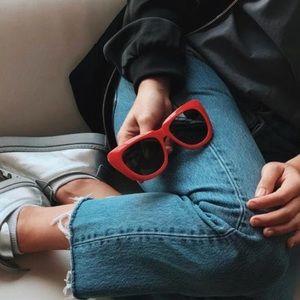 """Sonix """"Coco"""" Sunglasses in Red"""
